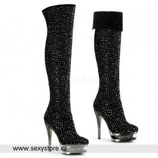 Luxusní dámské kozačky nad kolena FASCINATE-3010
