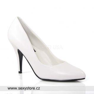 Bílé kožené dámské lodičky VANITY-420/W/LE