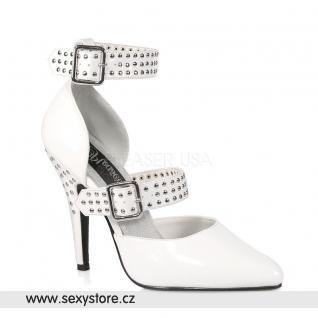 bílá lesklá obuv lodičky SEDUCE-416 skladem
