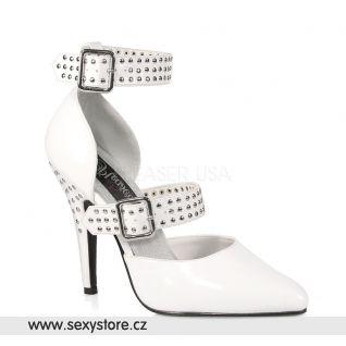 bílá lesklá obuv lodičky SEDUCE-416