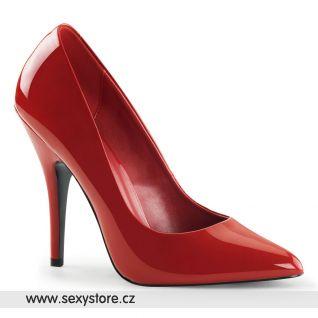Červené klasické dámské lodičky SEDUCE-420/R