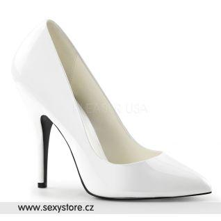 Bílé klasické dámské lodičky SEDUCE-420/W
