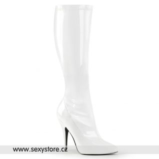 Bílé kozačky SEDUCE-2000/W