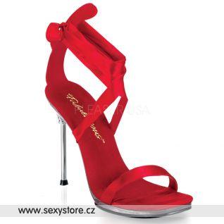 Plesové a společenské červené boty CHIC-14/R/SAT
