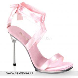 Růžová plesová a společenská obuv CHIC-14/BP/SAT
