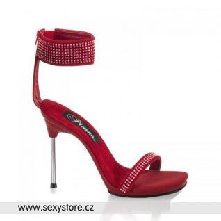 CHIC40/R/NB Černé sandálky na podpatku