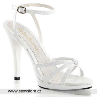 FLAIR-436/W/M Bílé páskové sandály