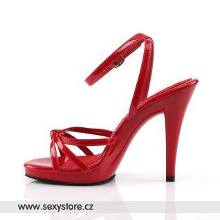 FLAIR-436/R/M červené páskové sandály