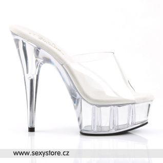 DELIGHT-601/C/M průhledné sexy boty na podpatku