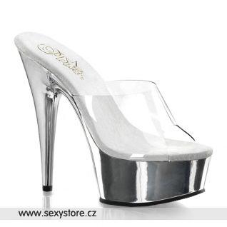 DELIGHT-601/C/SCH sexy obuv na podpatku