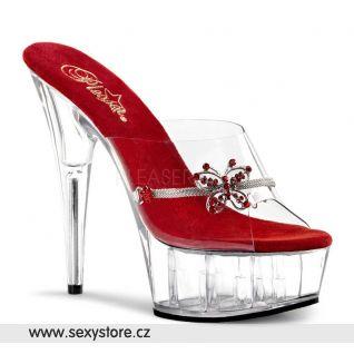 DELIGHT-601-10/R/C sexy obuv na podpatku