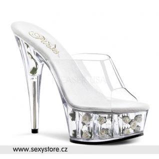 sexy boty na podpatku květiny v platformě DELIGHT-601FL