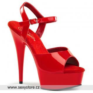 DELIGHT-609/R/M červené sexy boty