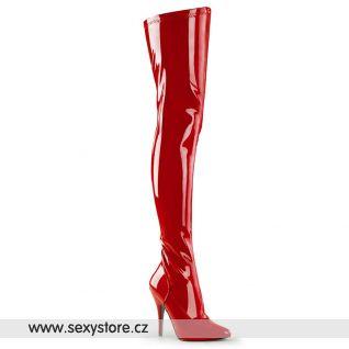 Červené kozačky SEDUCE-3000/R