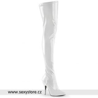 Bílé kozačky SEDUCE-3000/W