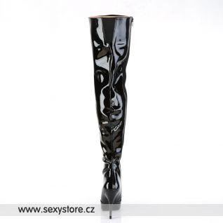Černé vysoké kozačky SEDUCE-3010/B