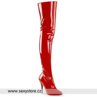 Červené vysoké kozačky SEDUCE-3010/R
