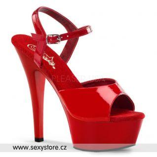 KISS-209/R/M červené sexy boty na podpatku
