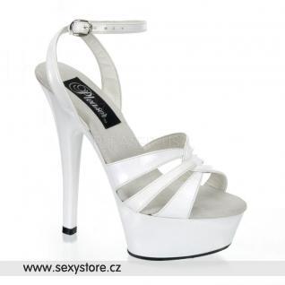 Bílé sexy boty KISS-230 skladem