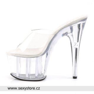 průhledné sexy platformy ADORE-701