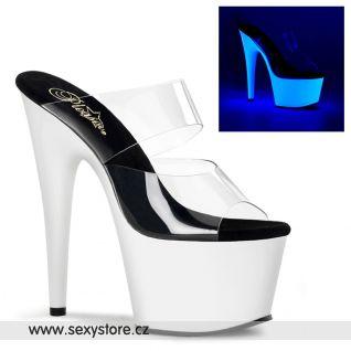 Svítící boty bílá/černá ADORE-702UV