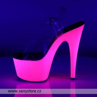 sexy obuv svítí růžově ADORE-708UV