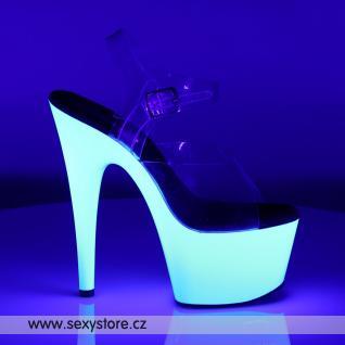Bíle svítící sexy boty na podpatku ADORE-708UV