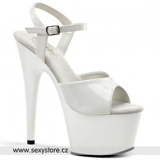 ADORE-709 bílá obuv na podpatku skladem