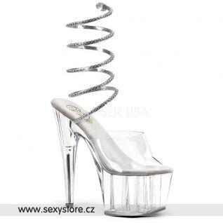 stříbrné sexy boty ADORE-791
