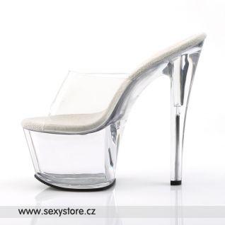 SKY-301/C/M sexy průhledné boty na vysokém podpatku