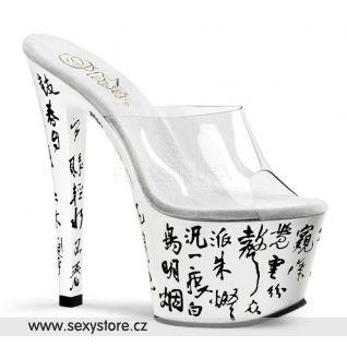 SKY-301-3/C/W sexy boty na podpatku a platformě