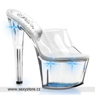 Svítivá obuv na podpatku SKY-301LT/C/U