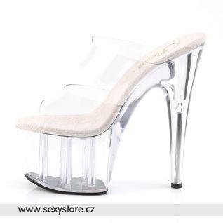 svůdná průhledná sexy obuv Pleaser ADORE-702