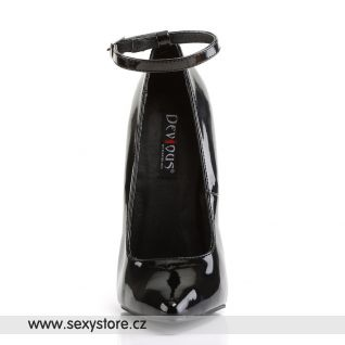 černé fetiš kovové vysoké podpatky SCREAM-12/B