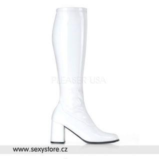 Bílé dámské kozačky GOGO-300/W