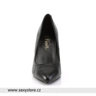 Klasické černé kožené lodičky VANITY-420/B/LE
