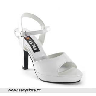 bílé matné plesové a společenské boty CONTESSA-09 skladem
