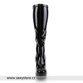 černé kozačky ELECTRA-2000Z/B