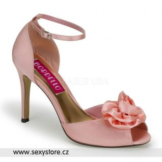 Svatební růžové  saténové boty ROSA-02/BP/SAT