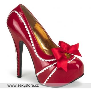 Červené sexy lodičky TEEZE-14/RW