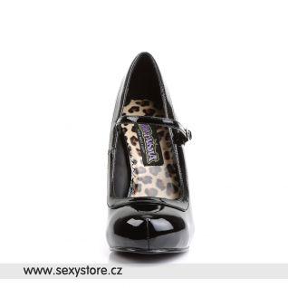 PRETTY-50/B černé dámské lodičky na podpatku