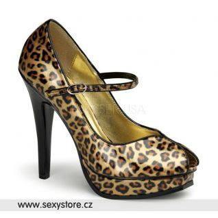 PLEASURE-02/GPT dámské lodičky na podpatku zlatý leopard