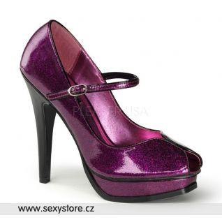 PLEASURE-02G/FSPGPT fialové dámské lodičky na podpatku