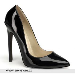 SEXY-20/B černé dámské lodičky na vysokém podpatku