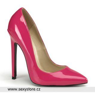 SEXY-20/HP tmavě růžové dámské lodičky na vysokém podpatku