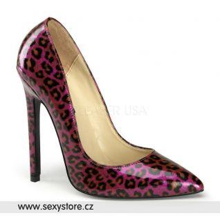 SEXY-20/PPPCP fialové perleťové dámské lodičky na vysokém podpatku