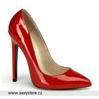 SEXY-20/R červené dámské lodičky na vysokém podpatku