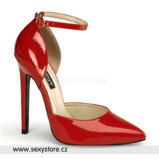 SEXY-21/R červené otevřené lodičky na podpatku