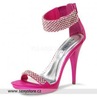 Růžové saténové plesové boty REVEL-16/FSSA