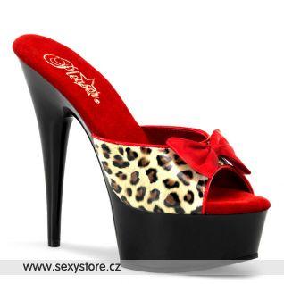 Extravagantní sexy pantofle DELIGHT-601-6/TLPPU/B na podpatku